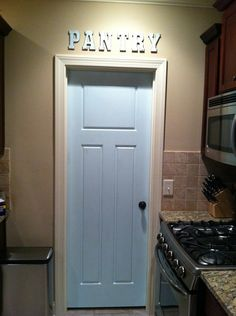 steps to painting your pantry door