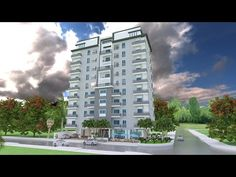 Apartment Plans with 18 UnitsThe House has:-Car Parking and garden-Living room,-Dining Bedrooms units Bed units One Bedroom House Plans, Tiny House Plans, Modern House Plans, Narrow House Designs, Small House Design, Villa Design, Floor Design, Low Budget House, Apartment Floor Plans