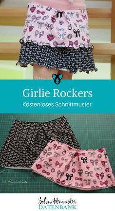 Girlie Rockers Mädchenrock Rüschenrock Jerseyrock Nähen für Kinder Nähen für Mädchen kostenlose Schnittmuster Gratis-Nähanleitung