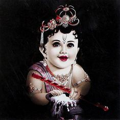 Krishna with Butter - Hindu Posters (Reprint on Card Paper - Unframed) Ganesha Pictures, Ganesh Images, Lord Krishna Images, Radha Krishna Pictures, Krishna Photos, Cute Krishna, Jai Shree Krishna, Radha Krishna Photo, Radha Krishna Love