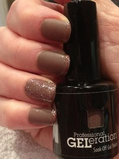 GELeration in Intrigue (mattifed) with Fairy Tale glitter.