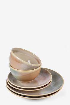 Side Plates, Dinner Sets, Gift List, Next Uk, Earthenware, Uk Online, Dinner Plates, Flat, Tableware