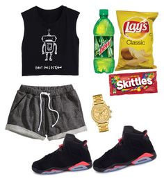 """""""Untitled #104"""" by destinygotem ❤ liked on Polyvore featuring H&M and Lacoste"""