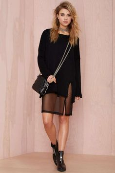 UNIF Zoe Sweater Dress - Day   Shift   LBD