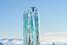"Big White Ski Resort's 60ft Ice Climbing Tower! Who's up for the challenge? ""Ice Tower, Big White, British Columbia"