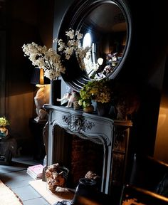 crystal & glass & mirrors - so incredibly stunning Industrial Shower Doors, Interior Decorating, Interior Design, Interior Paint, Goth Home, Dark Interiors, Gothic House, Luxury Furniture, Furniture Design