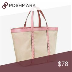 Beautiful Victoria's Secret Tote.nwt 100% Brushed canvas. Brand new with tags never used.  Smoke and pet free.  Fast shipping + extra gift.  I don't trade love.  Available  Lowest price 30 Bundle and save :) Victoria's Secret Bags Totes