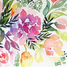 DIY watercolor florals free classes | Natalie Malan | wall art | big girl toddler room | cute nursery art