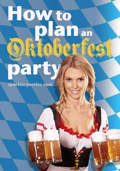 Oktoberfest Party Fun – Denise Samples Oktoberfest Party Fun Plan your own Oktoberfest Party with decor, menus, fashion, music, games and entertainment ideas sparklerparties. Oktoberfest Party, Oktoberfest Outfit, Oktoberfest Hairstyle, Oktoberfest Decorations, German Oktoberfest, Holiday Decorations, Gaudi, Party Time, Party Fun