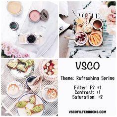 Refreshing Spring Instagram Feed Using VSCO Filter F2