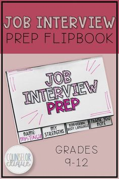 Job Interview Prep Flipbook Job Interview Prep Flipbook Counselor Clique- High School Counseling Resources counselorclique Career Readiness Ideas in School Counseling This Job Interview nbsp hellip ideas high schools High School Counseling, High School Activities, Activities For Teens, School Counselor, Therapy Activities, Job Interview Tips, Job Interviews, Interview Dress, Interview Quotes