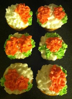 """Bloomers"" cup cakes."