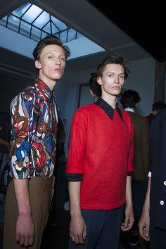 En backstage du défilé Marni homme printemps-été 2016 à Milan   Vogue