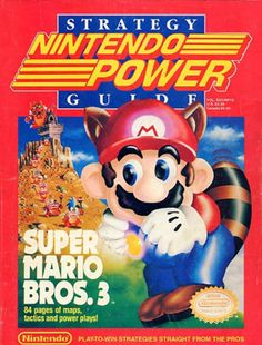 The Official Strategy Guide Super Mario Bros 3 Nintendo Power Over 80 full color pages of maps, strategies and walkthrus for this classic Nintendo 64 game available for sale. Super Mario Bros, Super Mario Brothers, Super Smash Bros, Classic Nes Games, Classic Video Games, Retro Video Games, Mario Bros., Mario And Luigi, Nintendo 64 Games