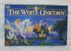 THE WHITE UNICORN BOARD GAME ROSEART 1995 COMPLETE
