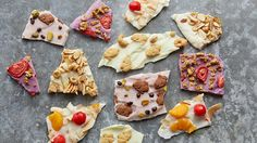 make it now: mix and match frozen yogurt bark