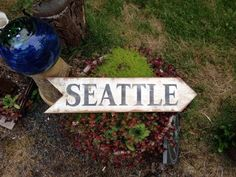 Hand Painted Seattle Sign