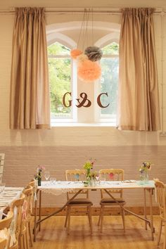 informal English country wedding with handmade decorations and a village hall reception