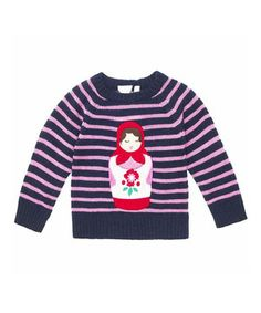 Layer little lovelies in the warmth of this UK-designed sweater. With a whimsical appliqué and soft material, it has kid-friendly comfort and cuteness down pat.