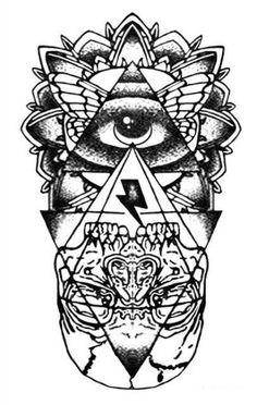 Black and White Eyes Tattoo