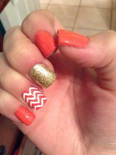Orange Nails :: Decorado naranja casi como el que tenía en mente