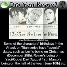 Attack on Titan did you know? <<<< approved, approved, appr- WAT?! NOT ANOTHER ONE