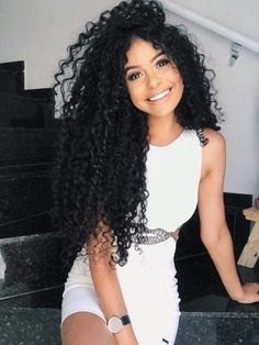Rabake Hair Virgin Human Hair Brazilian Kinky Curly Virgin Hair 3 Bundles With Lace Closure,Double Weft, Softness, More Thicker Health End. Curly Hair With Bangs, Short Curly Hair, Hairstyles With Bangs, Braided Hairstyles, Curly Hair Styles, Natural Hair Styles, Black Hairstyles, Curly Wigs, Curly Afro