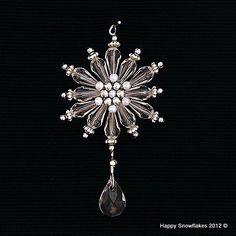 I checked out Handmade snowflake starburst  Christmas tree ornament on Lish, $6.00 USD