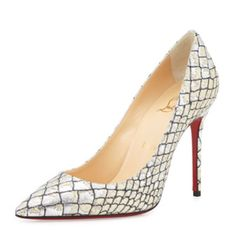 """Christian louboutin Decolette follis  85mm pumps Authentic Christian louboutin pumps, the only ware they have is on the bottom sole, heel is 4 """", the shoes are SOLD OUT!!!! Christian Louboutin Shoes"""
