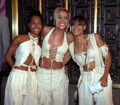 "Rozanda ""Chilli"" Thomas, Tionne ""T-Boz"" Watkins and Lisa ""Left Eye"" Lopes of TLC, 1995"