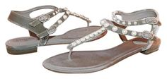 Get the must-have sandals of this season! These Chanel Logo Velvet Pearls… Pearl Sandals, Grey Sandals, Chanel Sandals, Chanel Pearls, Chanel Logo, Velvet, Flats, Gray, Shoes