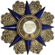 Vatican Medal Order of Pius IX Grand Cross Star, gilt and enamel