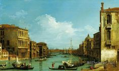Giovanni Antonio Canal (called Canaletto),Venice:  The Grand Canal From Campo S. Vio Towards The Bacino oil painting reproductions for sale