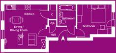Flat 15 Rosebay Drive, our last 1 bedroom second floor apartment.