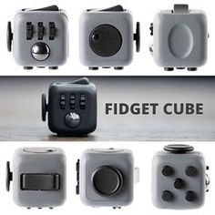 FIDGET CUBE! The easiest coolest way to liberate stress focus better be more productive and live a happier life! There are really no limits to when and where you can use Fidget Cube. Use it while listening to a lecture or while studying for that upcoming