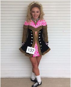 Charming Pink Taylor Dresses Irish Dance Dress Solo Costume For Sale