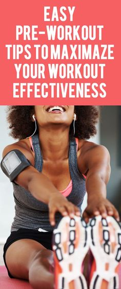 Simple Pre-Workout Tips to Maximaze Your Workout Effectiveness. #preworkout #workouttips #fitnesstips #fitnesshacks