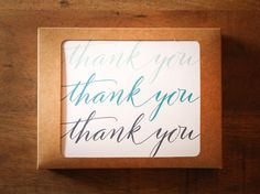Thank You Boxed Set of 10 Cards  No. BS101 by LowcountryPaperCo