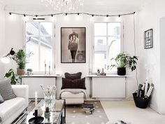decorative points of light points warm welcoming light decoration lamps lighting candles Scandinavian Nordic style decor white decor gray decor decoration Nordic blog