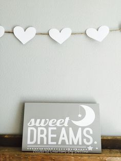 Nursery neutral gray shabby chic wooden painted wall sign $15