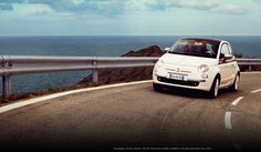 White FIAT- such an adorable car :)