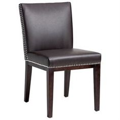 Sunpan Vintage Leather Dining Chair With Frame In Espresso / Black - Brown [Set of 2]