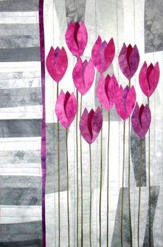 """Art Quilt """"Pink Ladies"""""""