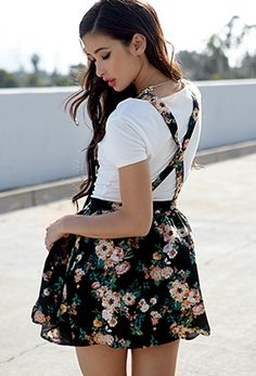 Floral Print Overall Dress | FOREVER 21 - 2002246431