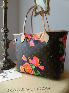 e677656c6538 Louis Vuitton Limited Edition Neverfull MM Monogram Roses Stephen Sprouse -  SOLD