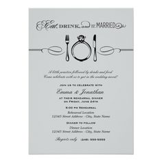 Rehearsal Dinner Invite | Eat Drink and be Married