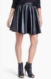 ELEVENPARIS 'Timac' Faux Leather Skater Skirt