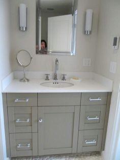 Grey vanity in A's bath?