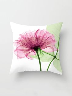 Pink flower throw pillow cover pink cushion cover watercolor flower print cushion cover mightylinksfo