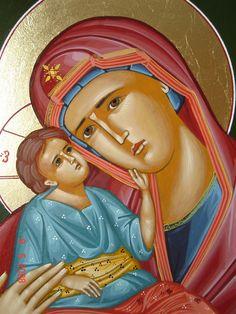 Virgin Mary detail  © byzantine icons  www.byzantineicons.net  Virgin Mary detail